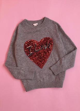 Новий шерстяний светр з паєтками новый свитер шерстяной шерсть альпаки h&m s/m