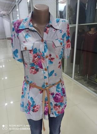 Блуза рубашка женская штапель 44й