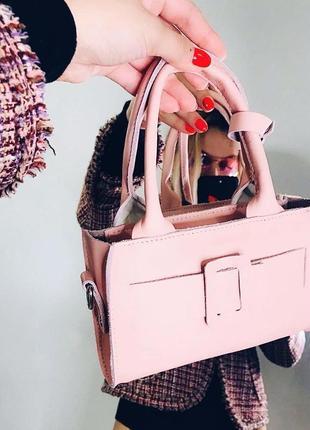 Сумка|кожаная сумка|розовая сумка