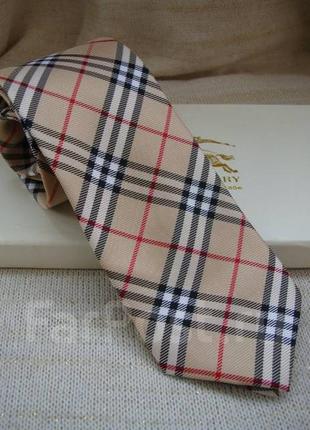 Мужской галстук  класса люкс burberry, оригинал, натуральный шёлк 100%,