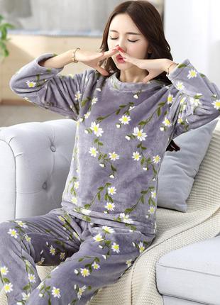 Пижама женская плюш плюшевая піжама жіноча плюшева