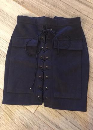 Актуальная юбочка с завязками
