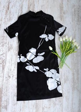 Платье ципао 100% шелк ткань мах маra