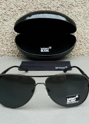 Montblanc очки капли мужские солнцезащитные черные поляризированые