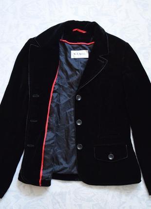 Роскошный бархатный пиджак бренда weill черный пиджак велюровый