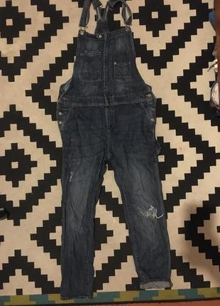 Комбинезон джинсовый можно для беременных h&m