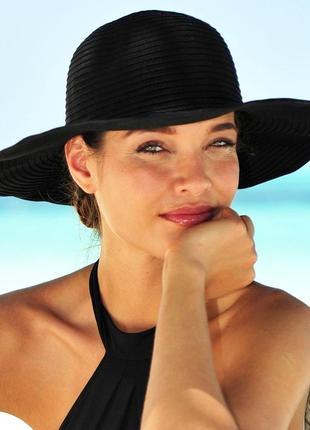 Пляжная гибкая морская широкополая шляпа шляпка панама солнцезащитная