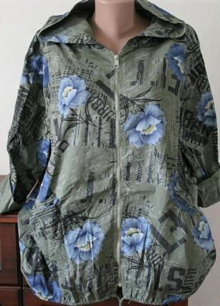 Куртка, кардиган в цветы, размер универсальный.