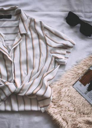 Рубашка-топ, блузка в полосочку
