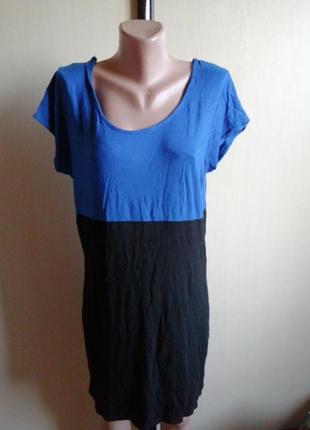 Платье черно синие