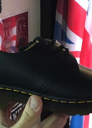 Туфлі dr.martens 1461 original black smooth чорні шкіра