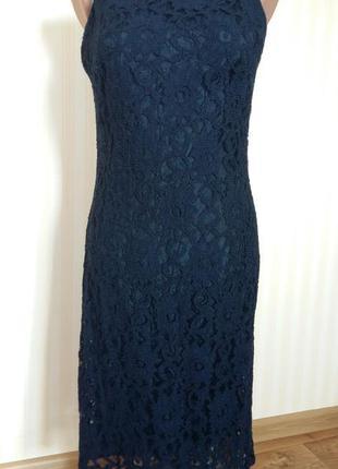 Кружевное, гипюровое  платье миди