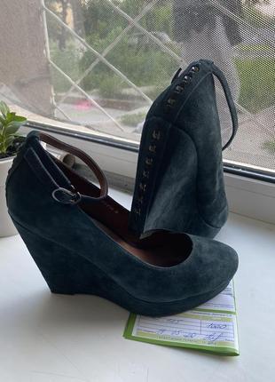 Шикарные туфли замш