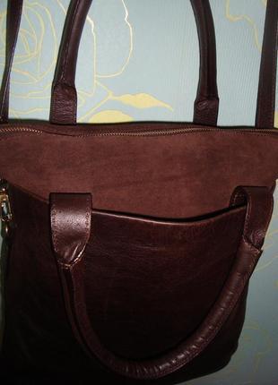 Шикарная кожаная сумка-трансформер ,wera stockholm, швеция