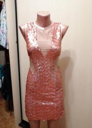 Платье паетки амос