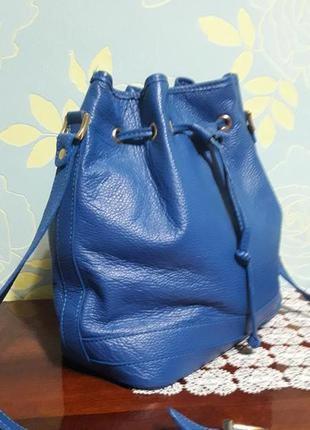 Сумка мешок genuini leather , italy
