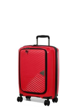 Чемодан маленький,ручная кладь с отделом под ноутбук,airtex 230/22-red