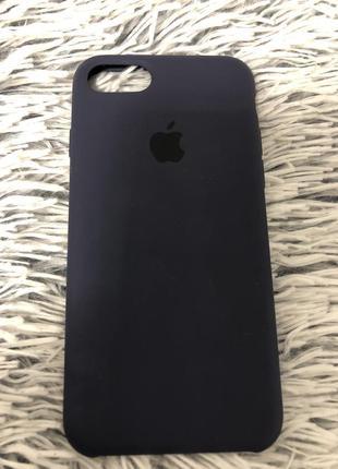 Silicon case original iphone 7/8  синий