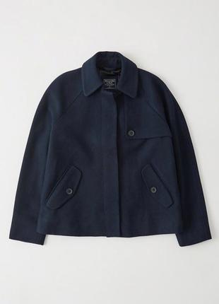 Пальто шерстяное abercrombie & fitch