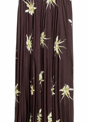 Плиссированная юбка в цветы