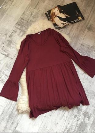 Greenberg-блуза -туника🌺цвета марсала (большой размер)