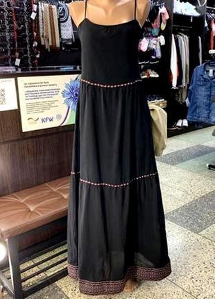 Шикарное натуральное макси платье - сарафан , esmara , германия , р. 36 евро