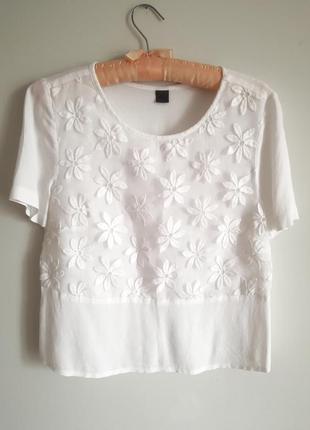 Шелковая блуза футболка