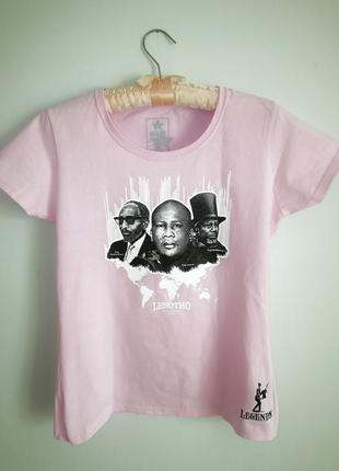 Розовая футболка хб