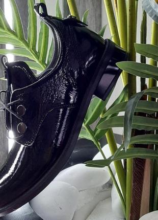 Туфли женские из натуральной лакированной кожи