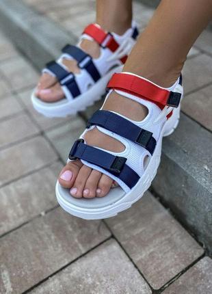 Шикарные босоножки босоніжки fila sandal  colors сандалі сандалии