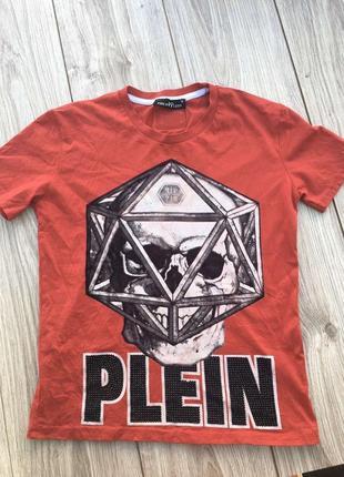 Стильная актуальная футболка philip plein тренд майка