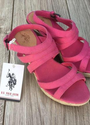 Стильные актуальные туфли босоножки танкетка us polo assn ralph lauren massimo dutti