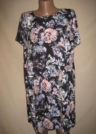 Вискозное платье -туника f&f р-р16
