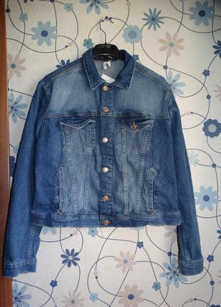 Джинсовая куртка джинсовый пиджак h&m 50-52/xl-xxl