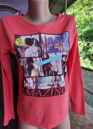 Молодежная футболочка с длинным рукавом