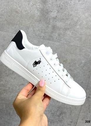 Кеды кроссовки макасины перфорация белые
