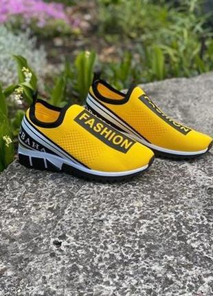 Кроссовки кеды жёлтые