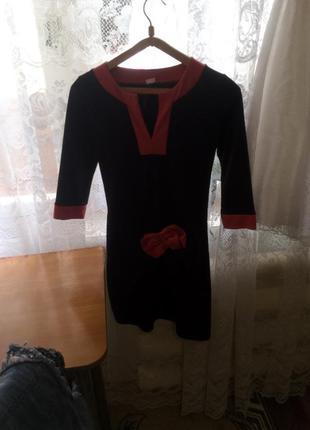 Платье с бантом )