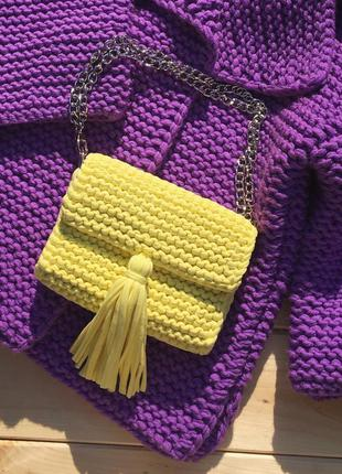 Сумка маленькая сумочка клатч через плече с цепочкой кроссбоди