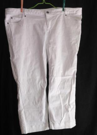 Классные белые женские бриджи (made in cambodia )