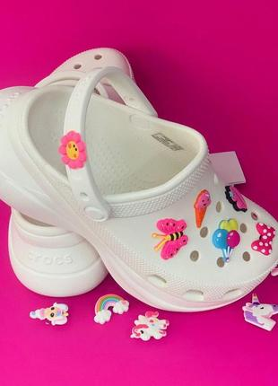 Женские кроксы сабо crocs women's classic bae clog white