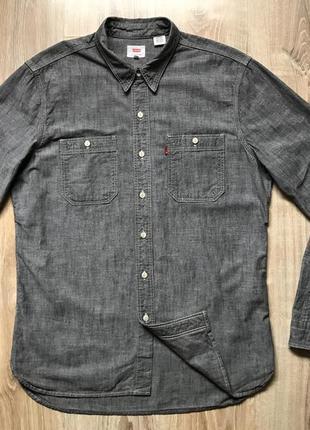 Мужская деним рубашка с длинным рукавом levis l