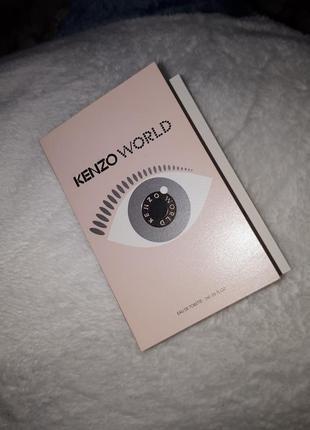 Пробник туалетной воды kenzo world eau de toilette оригинал, свежый