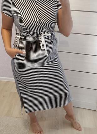 Платье коттон полоска