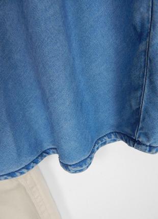 Джинсовый топ майка трапеция на тонких плетеных бретелях с открытыми плечами new look6 фото