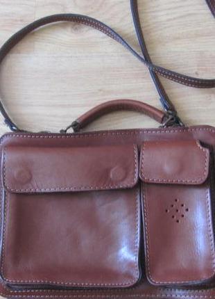 Мужская кожаная новая сумка - борсетка.