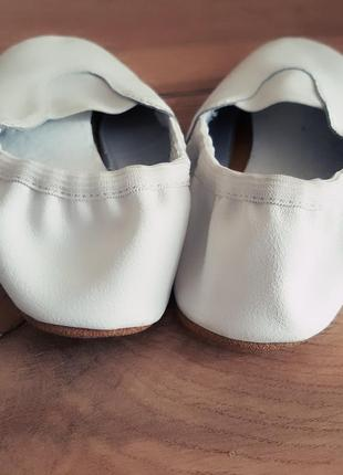 Чешки белые, натуральная кожа4 фото