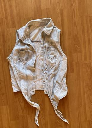 Рубашка джинсовая f&f
