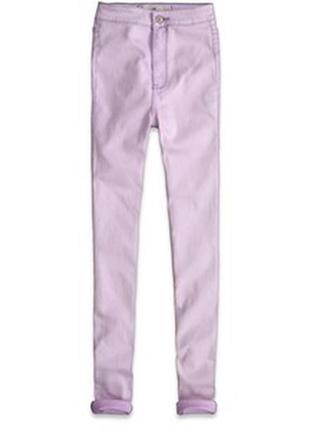 Джинси hollister blake natural waist jegg лавандового кольору 0-r