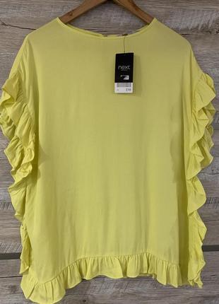 Стильная блуза next в рюши р.12